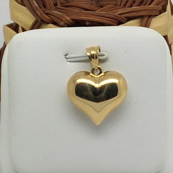 51 off jewelry 14k yellow gold plain puffy heart pendant poshmark 14k yellow gold plain puffy heart pendant aloadofball Gallery